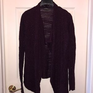 Express sparkly purple cardigan